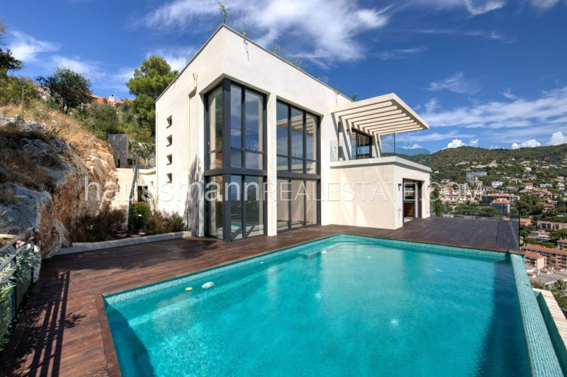 all new contemporary villa overlooking cap ferrat