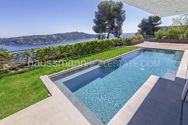 contemporary villa with sea view facing cap ferrat