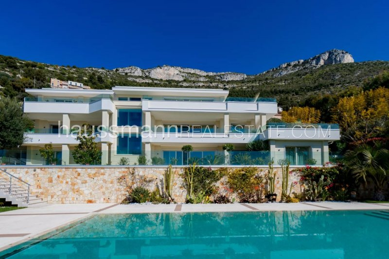 large modern villa with caretaker's cottage, at the gateway to monaco