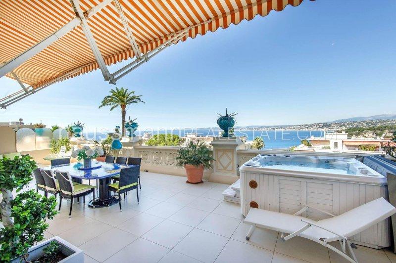 luxury belle epoque apartment with terrace