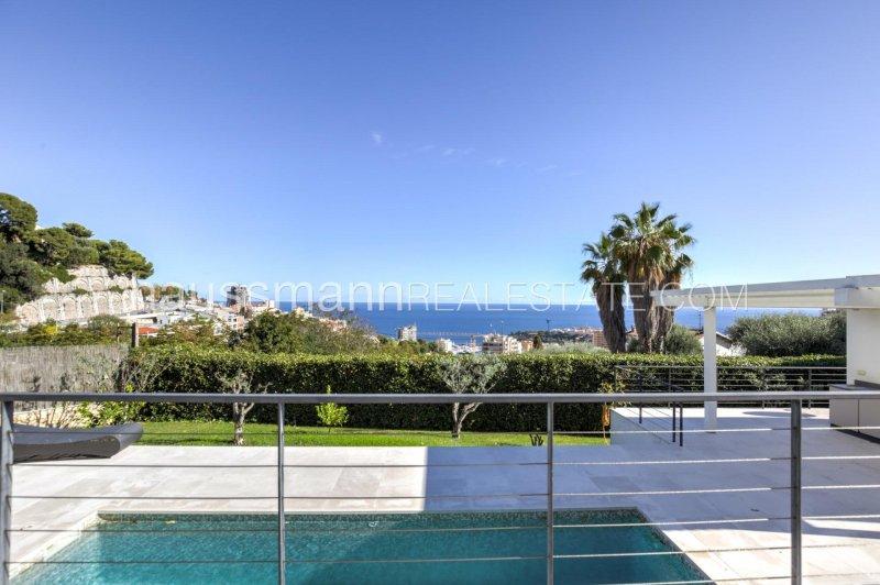near monaco, modern house with panoramic sea view