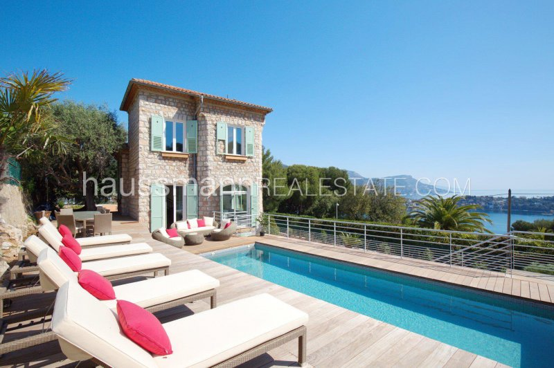 renovated stone built house with panoramic sea view and swimming pool